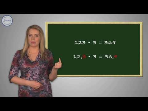 Умножение десятичной дроби на натуральное число
