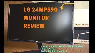 LG 24mp59G Review - Budget Gaming Monitor - Free Sync - 1ms - IPS Panel