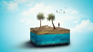 3d Beach Photo Manipulation And 3d Effect | Photoshop Tutorial
