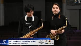 DUO Aoi KANEKO & Tomomi GOTO play Konzerstuck by P. Hindemith #adolphesax