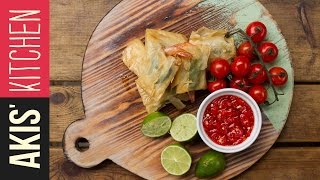 Phyllo Wrapped Prawns With Food Busker   Akis Kitchen