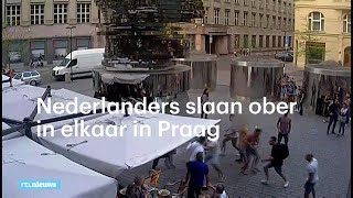 Nederlanders slaan ober in elkaar in Praag - RTL NIEUWS