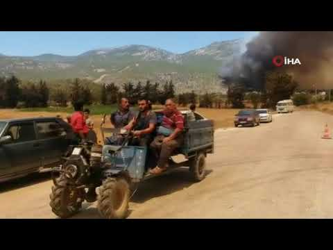 Antalya-Mersin yolu kapandı: Yangın otellerde!