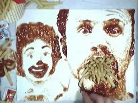 Check Out These Speed Paintings Created With Food