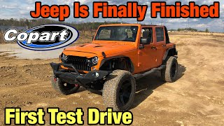 Rebuilding a Wrecked 2013 Jeep Wrangler Jk From Copart Part 12