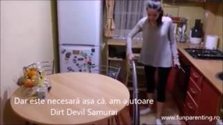 FUN Parenting si Dirt Devil Samurai in actiune