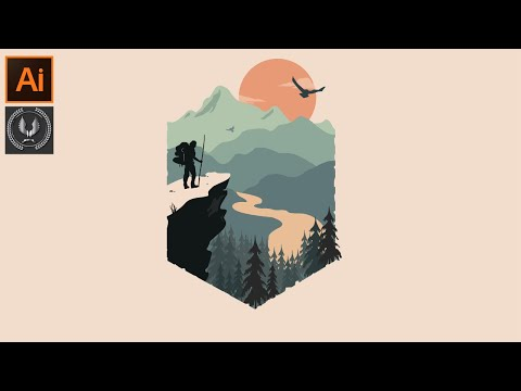 adobe illustrator tutorial  beautiful landscape background design
