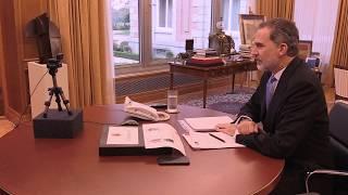 Vídeoconferencía de S.M. el Rey con la Fundación COTEC