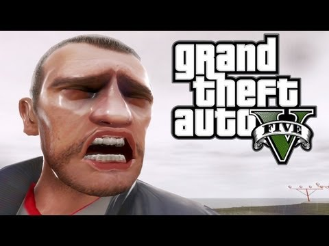 Niko Bellic Reacts Really Badly To His First Look At GTA V Gameplay