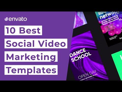 10 Best Social Media Marketing Video Templates - YouTube