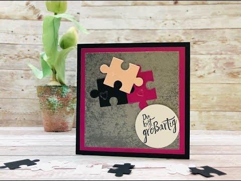 Puzzle selber machen als Grußkarte