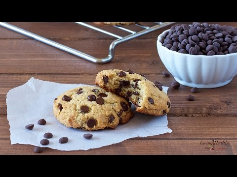 Video Healthy Chocolate Chip Cookies (Paleo, Vegan)