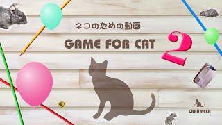 【猫用動画MIX2】ねずみ・ひもなど 30分 GAME FOR CATS 2