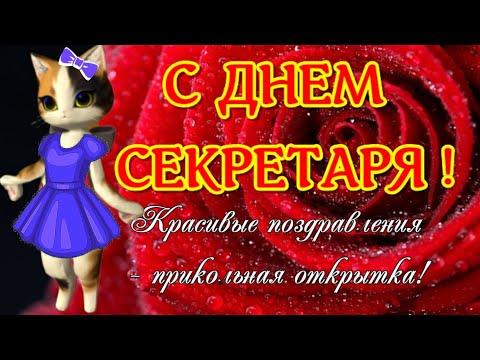 С днем секретаря,  прикольные видео поздравления и открытки  с  праздником в ДЕНЬ СЕКРЕТАРЯ