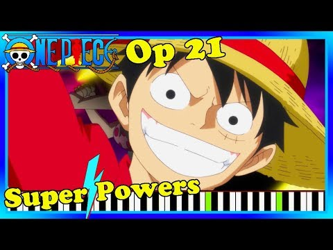 NEW One Piece Opening 21 Piano Cover. Super Powers By V6 Synthesia.