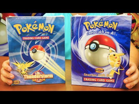 POKEMON TRADING CARD GAME STARTER GIFT BOX UNBOXING (1999)