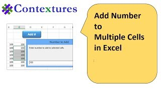 """Add Number to Munique values in excel"""""""