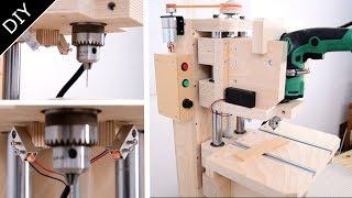 Attach A DIY Laser Marker To The Pillar Drill:自作ラインレーザーをボール盤に装着