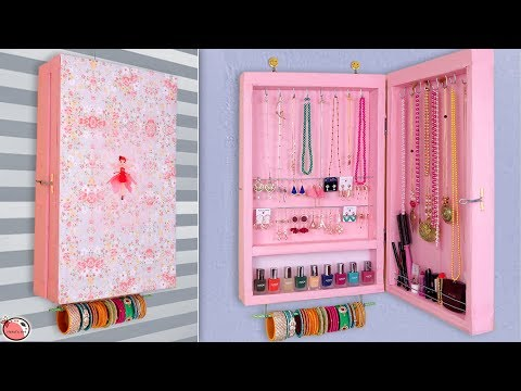 Jewelry Cabinet ... DIY Jewelry Holder Making at Home !!
