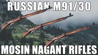 Russian M91/30 Mosin Nagant Rifle, Bolt Action w/ Bayonet 7.62x54R