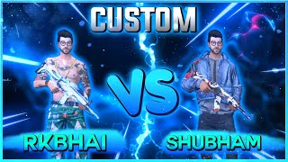 freefire best vs best friendly custom | rk vs shubham 1 vs 1 || bakchod Gamer