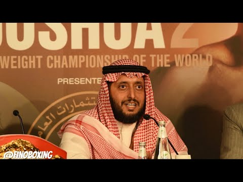 """PRINCE OF SAUDI ARABIA ON HOSTING THE FIGHT """"IT REMINDS ME OF MIKE TYSON, LENNOX LEWIS & HOLYFIELD"""
