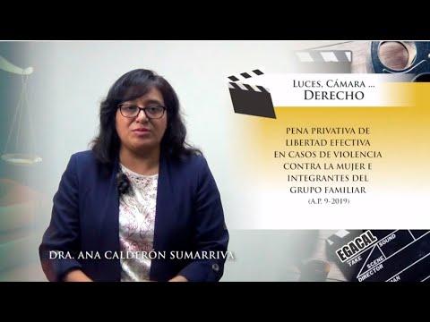 PENA PRIVATIVA DE LIBERTAD EFECTIVA EN CASOS DE VIOLENCIA CONTRA LA MUJER - Luces Cámara Derecho 156