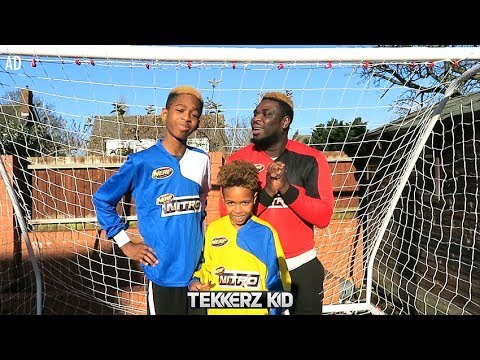 NERF FOOTBALL CHALLENGE! | I Helped Romello!