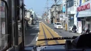 HD江ノ島電鉄線腰越→江ノ島併用軌道区間全面展望