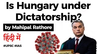 What is Viktor Orban's Coronavirus Coup? Is Hungary under DICTATORSHIP? Current Affairs 2020