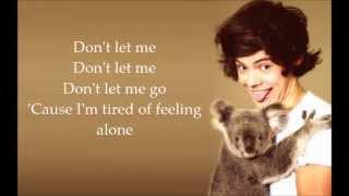 Harry Styles - Don't Let Me Go (Lyrics)
