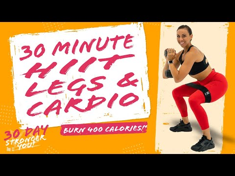 30 Minute HIIT Legs and Cardio Workout! 🔥Burn 400 Calories!* 🔥Sydney Cummings