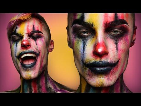 Creepy Colorful Clown - Halloween Makeup Tutorial