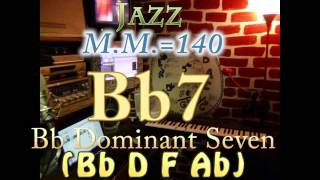Bb7 Dominant Seven (Bb D F Ab) - Jazz - M.M.=140 - One Chord Backing Track