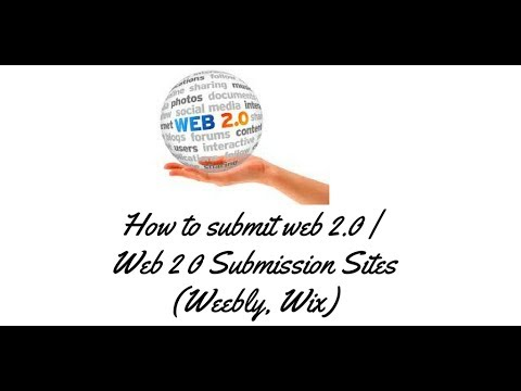 How to submit web 2.0 Tutorials  | Web 2 0 Submission Sites (Weebly, Wix) - Rakesh Tech Solutions