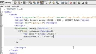 Fill Select , Option using MYSQL , PHP , JQUERY تعبئة القائمة المنسدلة باستخدام الجي كويري