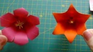 Цветы из бумаги: лилия и вьюнок оригами.