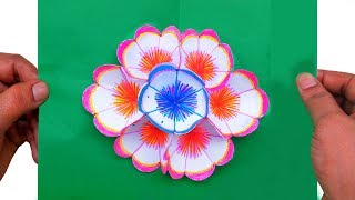 How to make lavender paper flowers paper quilling art most how to make a 3d flower pop up greeting card paper quilling art m4hsunfo