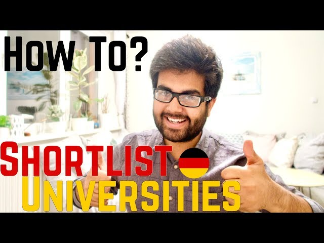 HOW TO SELECT UNIVERSITIES: STUDYING IN GERMANY