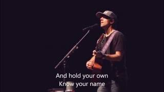 "Jason Mraz ""Details in the Fabric"" (Lyrics on screen)"
