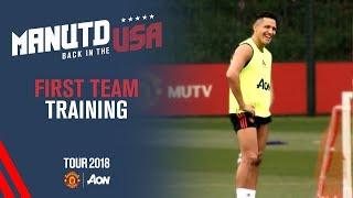 Manchester United Training! | Alexis Sanchez, Martial, Mata | USA Tour 2018 Live on MUTV