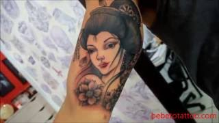 Bebeto Tattoo Studio - Tatuagem De Gueixa Em Andamento - Geisha Tattoo - In Progress