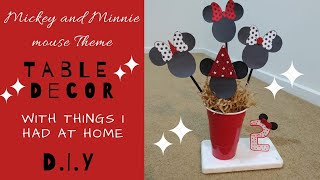 DIY || Mickey & Minnie Mouse Theme Table Decor