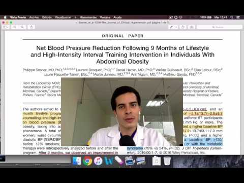 Presión sanguínea baja y el plano
