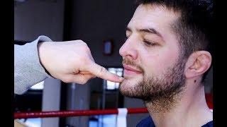 Как  ударить в  челюсть чтобы вырубить с одного удара