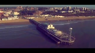 Drone Captures Giant Movie Quotes Along Bournemouth Beach