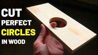 How To Cut PERFECTLY CIRCULAR HOLES! (Hole Saw Bit/Circle Bit--Cut Circles in Wood, Drywall, PVC!)