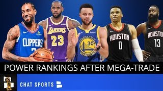 2020 NBA Western Conference Playoff Projections Following Russell Westbrook & Chris Paul Trade