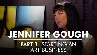 Part 1: Starting An Art Business   Artist Entrepreneur Jennifer Gough   AQs Blog & Grill