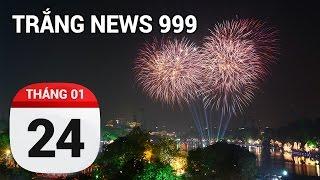Hà Nội bắn pháo hoa bằng đèn LED | TRẮNG NEWS 999 | 24/01/2017